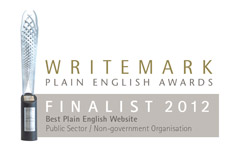 Finalist in the 2012 Plain English Awards