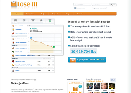 Weight Loss Website & Download Free Smartphone App