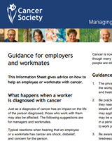 Managing Cancer in the Workplace