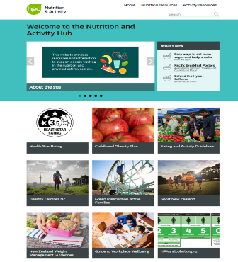 Welcome to the nutrition and activity hub website HPA